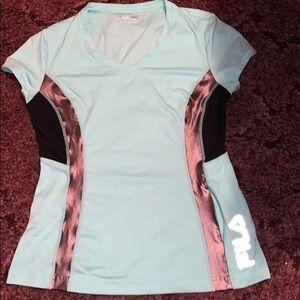Gently used FILA V-Neck Arhletic Tshirt